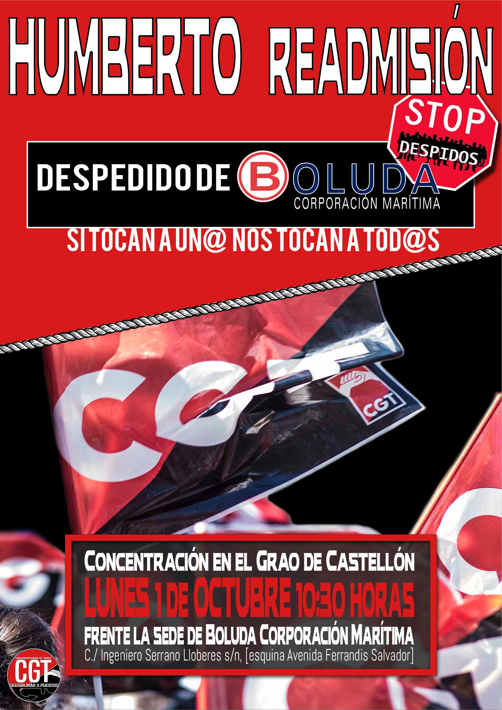 Cartel Readmisión Humberto (Castellon)