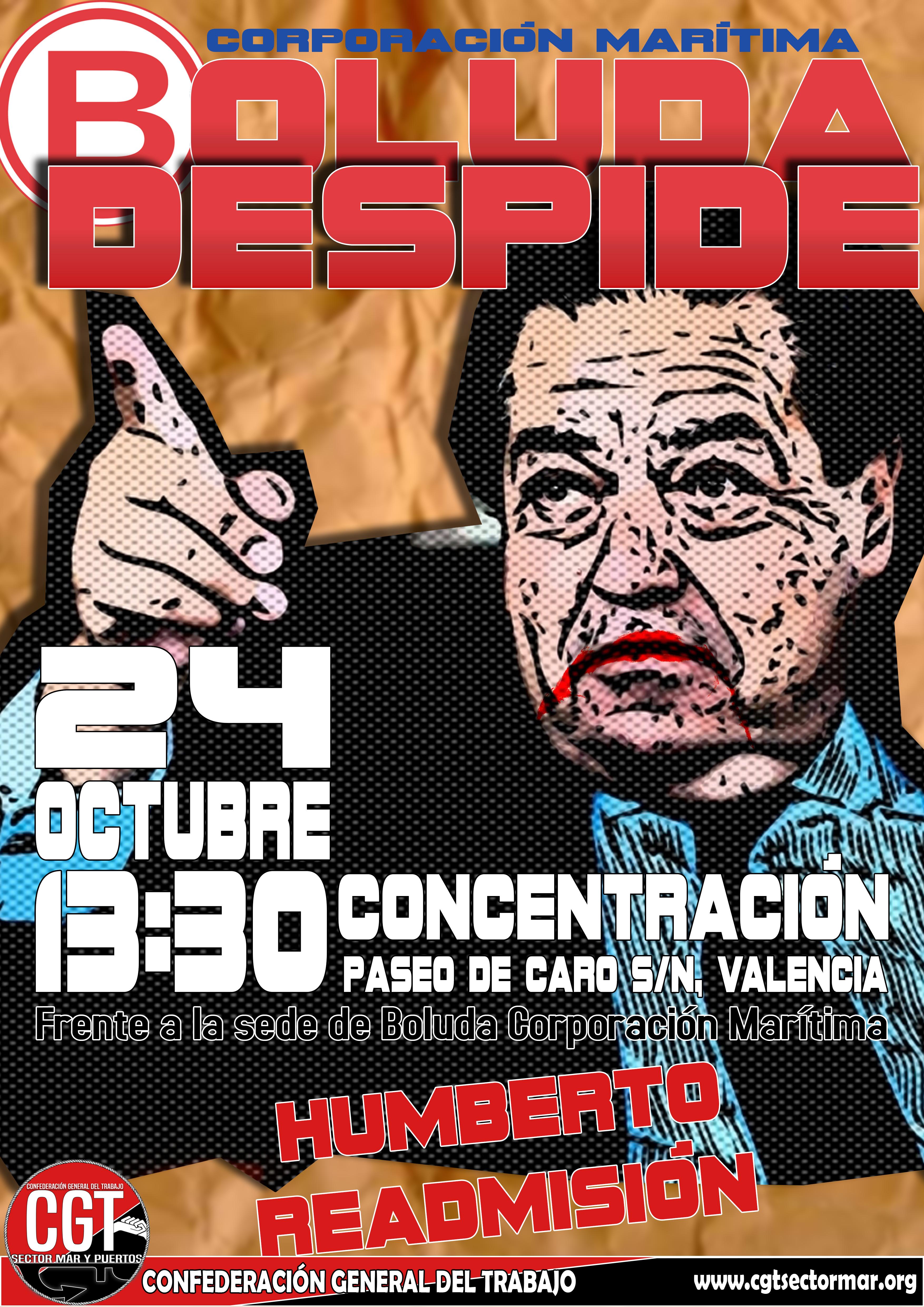 Cartel Despido Humberto (Valencia)